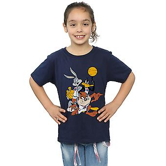 Space Jam Girls Bugs And Daffy Group Shot T-Shirt