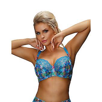 Nessa B1 Women's Valerie Blue Motif Non-Padded Underwired Soft Bra