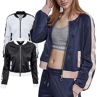 Urban classics ladies - BUTTON UP retro track jacket