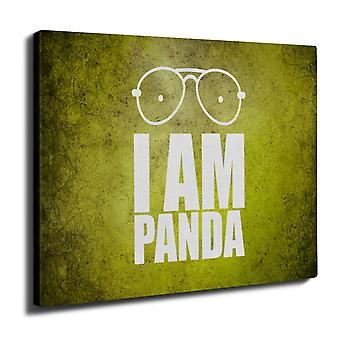 Panda Saying Funny Wall Art Canvas 40cm x 30cm | Wellcoda