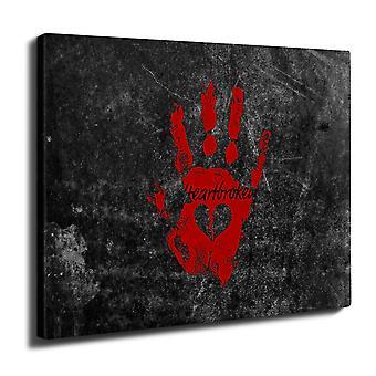 Hjerte pause kule veggen kunst lerret 40 cm x 30 cm | Wellcoda
