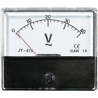التماثلية الحامل جبل متر VOLTCRAFT AM-70X60/40V 40 V لفائف متحركة
