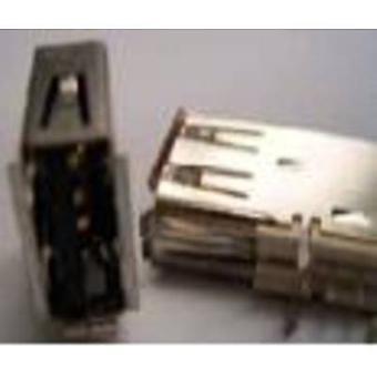 Mounted socket type A USB 2.0 Socket, horizontal mount USB 1 Port FCI Content: 1 pc(s)