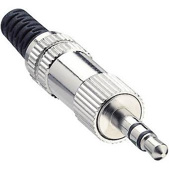 Lumberg KLS 44 3.5 mm audio jack Plug, straight Number of pins: 3 Stereo Silver 1 pc(s)