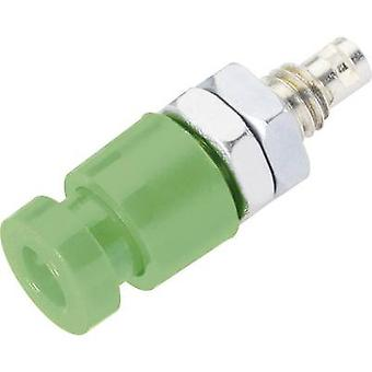 Schnepp EBU 2424 Jack socket Socket, vertical vertical Pin diameter: 2.4 mm Green 1 pc(s)