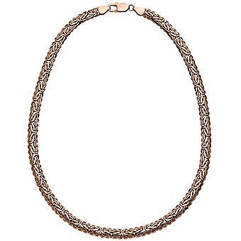 Kuningas ketjun soikea 925 hopeoitu vaaleanpunainen kultaa 45 cm ketju kaulakoru sulkurengas