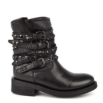 Ash Footwear Tempt Black Studded Boot