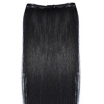#1 jet Black - Clip in Hair Piece - #1 - Jet Black