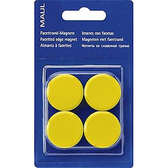 Maul Magnet MAULpro (Ø x H) 30 mm x 10 mm Round, Facet edge Yellow 4 pc(s) 6177213