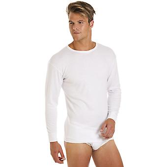 2 Pack Haigman Mens Base Layer Crew Neck Long Sleeve Thermal T Shirt Underwear
