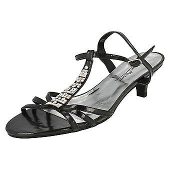 Ladies Anne Michelle Diamante Open Back Sandal Heels