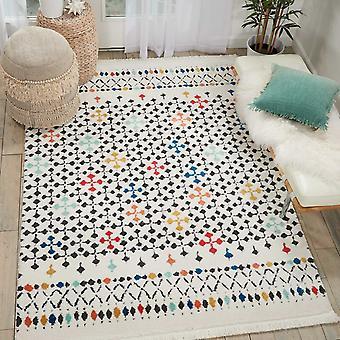 Kamala dywany Ds504 przez Nourison w kolorze białym