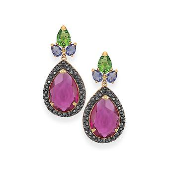 Multicolor earrings with crystals from Swarovski 4808