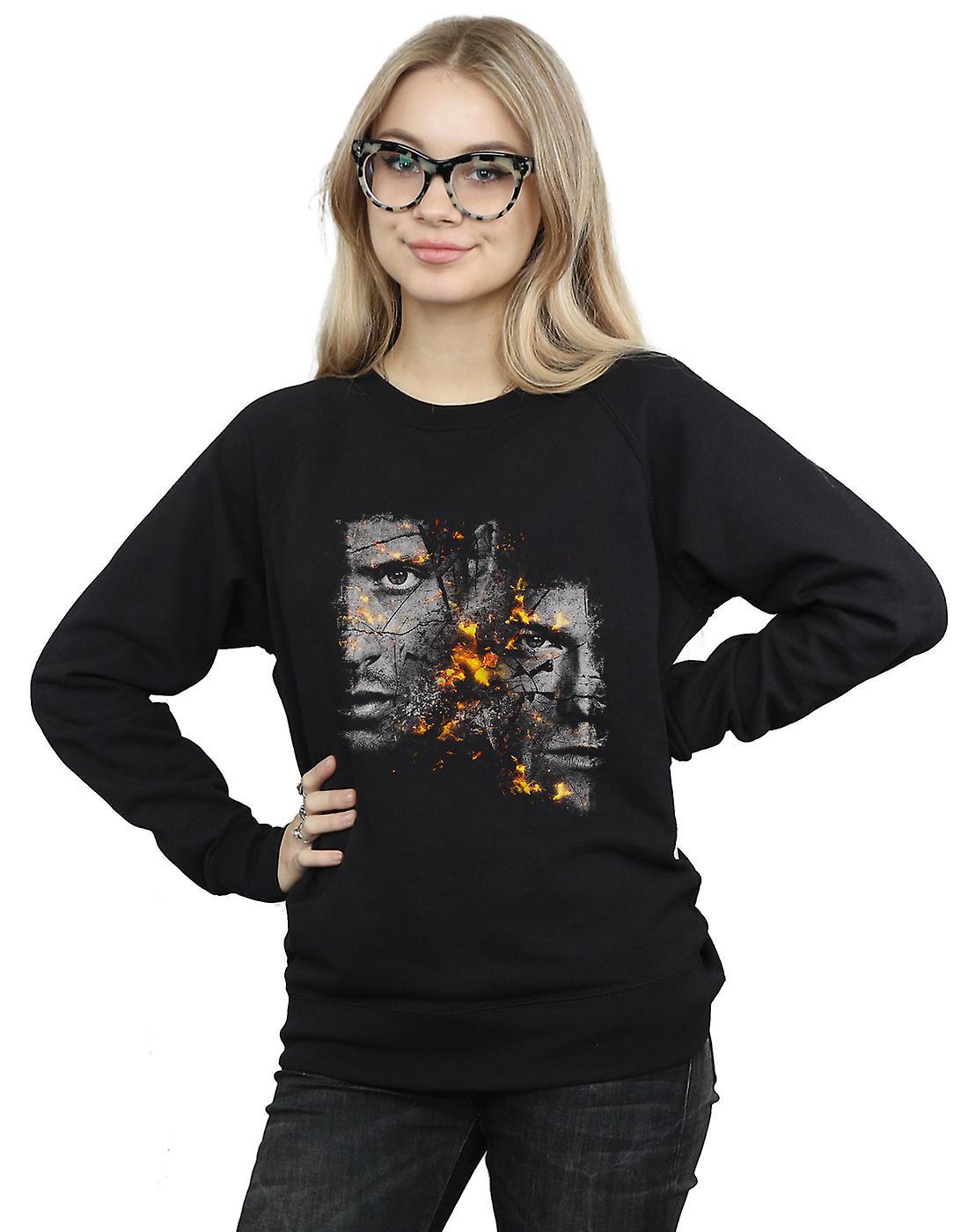 Supernatural Women's Sam And Dean Fire Sweatshirt