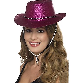 Cowboy Glitter Hat, PINK