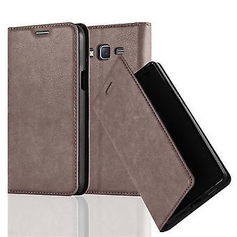 Cadorabo fallet för Samsung Galaxy J7 2015 fodral Cover-telefon väska med magnetstängning, stand funktion och kort Case kupé-fallet täcker fall fall fall fall bok Folding Style
