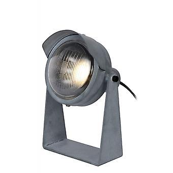 Lampe de Table gris acier industrielle lucide Cicleta