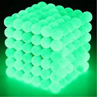 Magnetische ballen om te bouwen en te leren met-lichtgevend groen