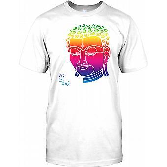 Rainbow Buddha Face - Cool Design Mens T Shirt