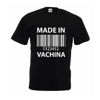 Gjort i Vachina Mens svart Tshirt