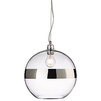 Firstlight-1 Light Ceiling Pendant Chrome, Clear Glass-7639CH