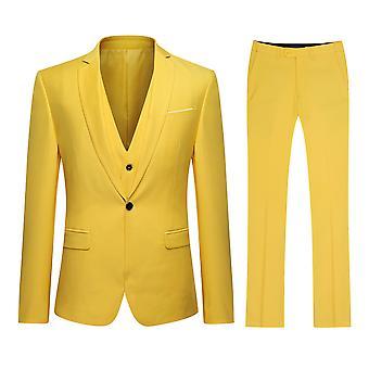 Allthemen hommes costume affaires Casual 3-pièces costume Blazer pantalon gilet 9 couleurs