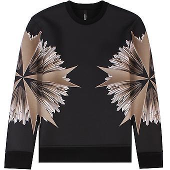 Neil Barrett Military Star Sweatshirt Black