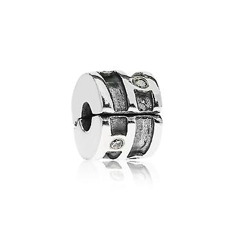 Pandora Sparkling Abstract Silver & Clear CZ Clip 790291CZ