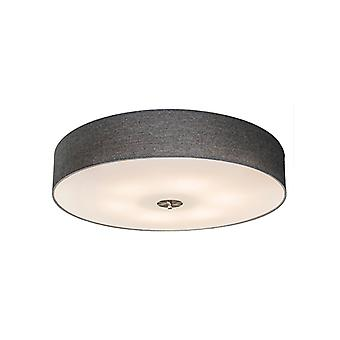 QAZQA Country Ceiling Lamp 70cm Grey - Drum Jute