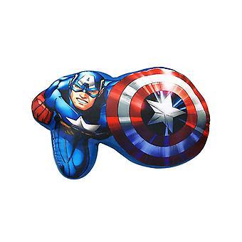 Marvel Avengers kapitein-Amerika gevormde kussen