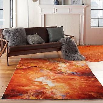 Le Reve LER05 Red Flame Rectangle Rugs Funky Rugs
