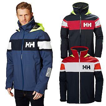 Helly Hansen Mens 2020 Salt Flag Hooded Waterproof Full Zip Jacket
