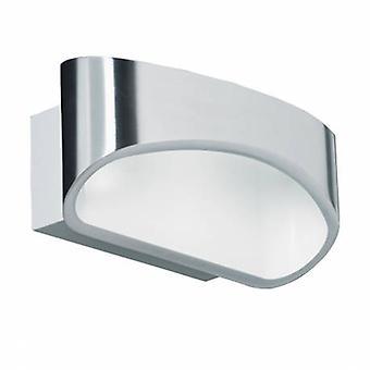 1 licht indoor Wandlicht aluminium, wit
