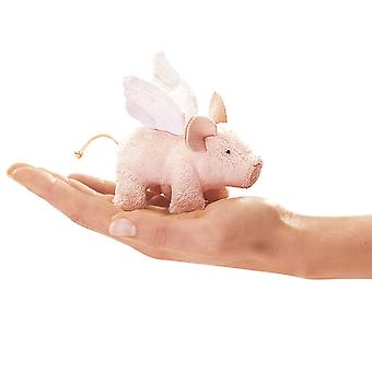 Finger Puppet - Folkmanis - Mini Piglet Winged New Animals Soft Doll Plush 2685
