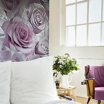 Muriva Madison Rose Pattern Wallpaper Flower Petal Botanical Glitter Vinyl 139522