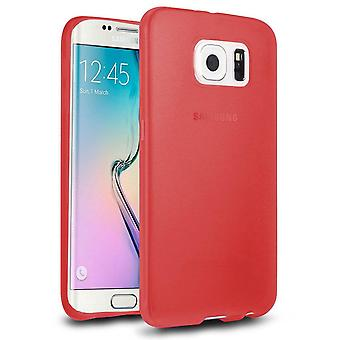 Samsung Galaxy S6 Edge Case Silicone Transparent Red - CoolSkin3T