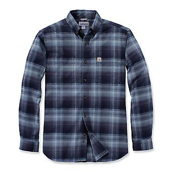 Carhartt Men's Long Sleeve Shirt Rugged Flex Hamilton Plaid