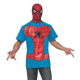 Spider-Man Kostüm T-Shirt mit Maske
