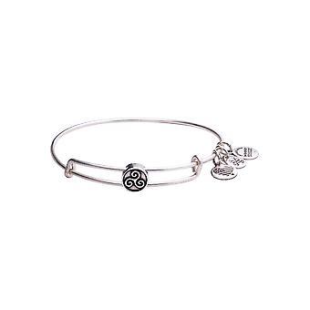 Alex and Ani Triskelion Bead Charm Bangle Bracelet - Rafaelian Silver