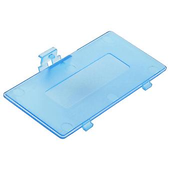 Replacement battery cover door for nintendo game boy pocket  / clear blue
