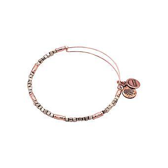 Alex und Ani Pine Zephyr erweiterbare Perlen Armreif - glänzende Rose Gold