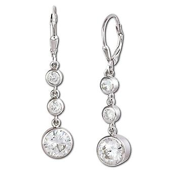 925 Sterling SilberDream woman-silver earrings with white zircons VSDO277W