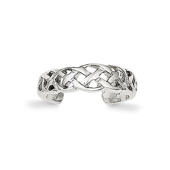 925 Sterling Silver Solid Irish Claddagh Celtic Trinity Knot Weave Toe Ring Jewelry Gifts for Women