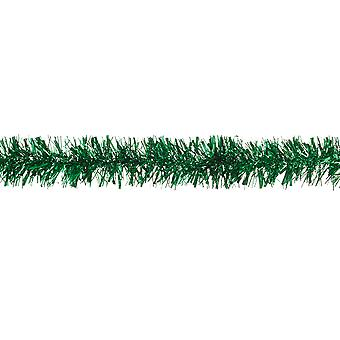 Rich Green Chunky Cut Extra Dense Tinsel Christmas Tree Decoration - 2m