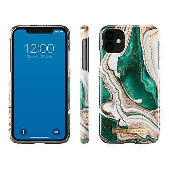 iDeal de Suecia iPhone 11-Golden Jade Mármol