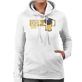 Popeye Brutus All Brawn No Brains Women's Hooded Sweatshirt