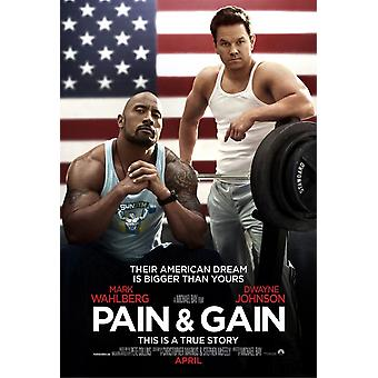 PAIN AND GAIN Poster double face ADVANCE (2013) ORIGINAL CINEMA POSTER