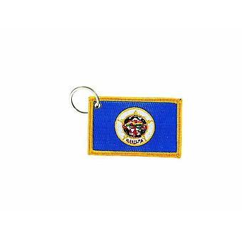 Cle Cles Key Brode Patch Ecusson Abzeichen Flagge Minnesota USA Amerika