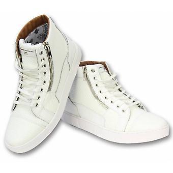 Shoes - Sneaker High Heel - Devil White