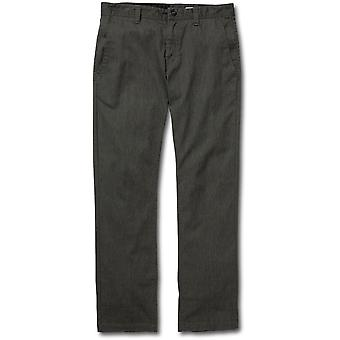 Volcom Frickin Modern Chino Trousers in Charcoal Heather
